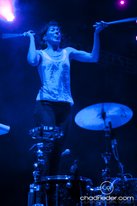Kim Schifino drums Matt and Kim