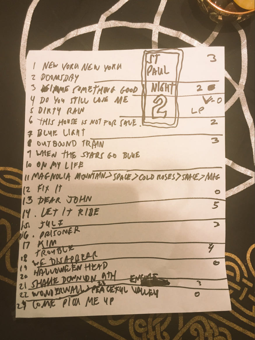 Ryan Adams Palace Theatre St. Paul setlist