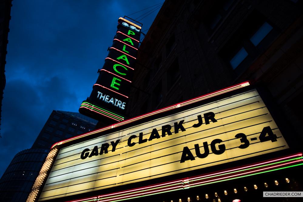 Gary Clark Jr. Palace marquee