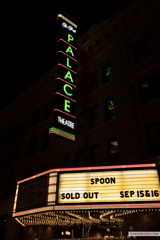 Spoon Palace Theatre marquee